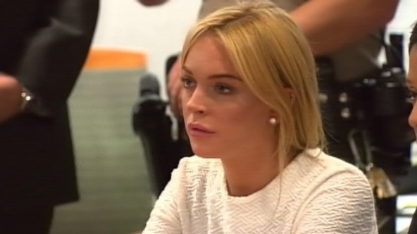 lohan in court