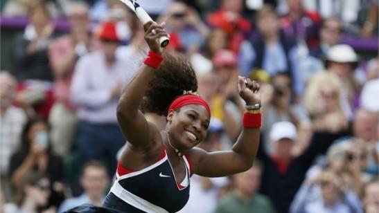 serena williams crip walks after winning gold